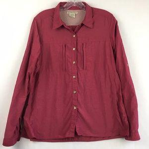 ExOfficio Pink Longsleeve Button Front Shirt
